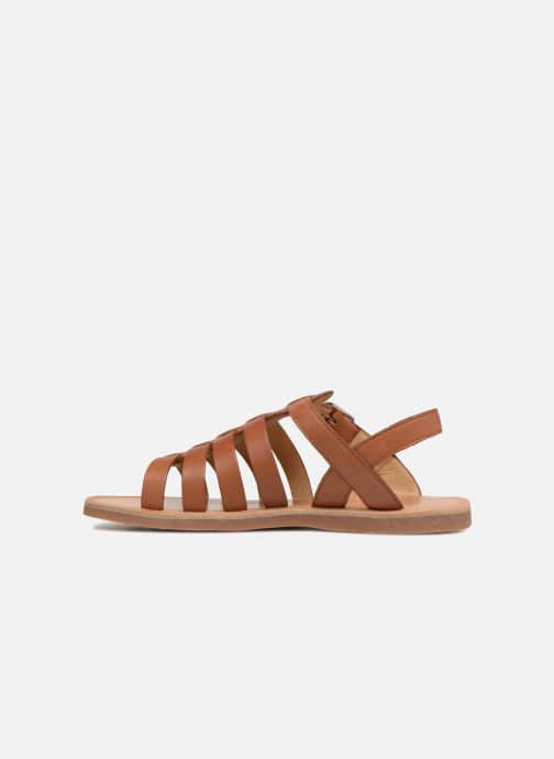 Sandals Pom d Api Plagette Strap Brown front view