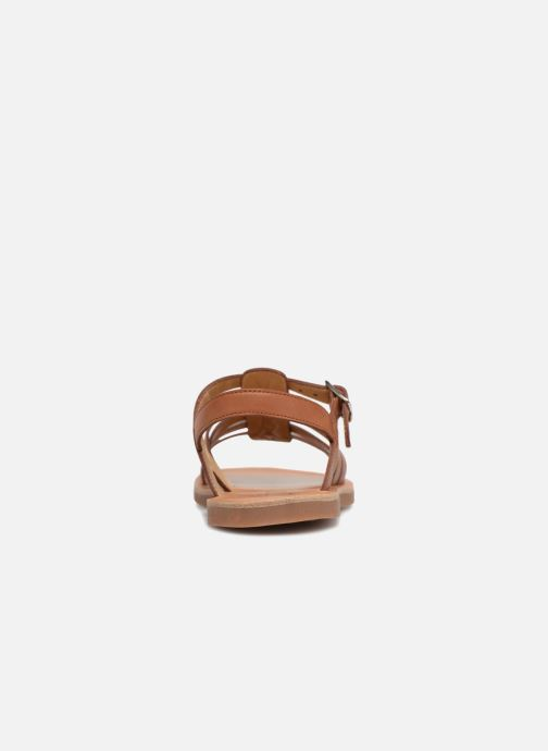 Sandals Pom d Api Plagette Strap Brown view from the right