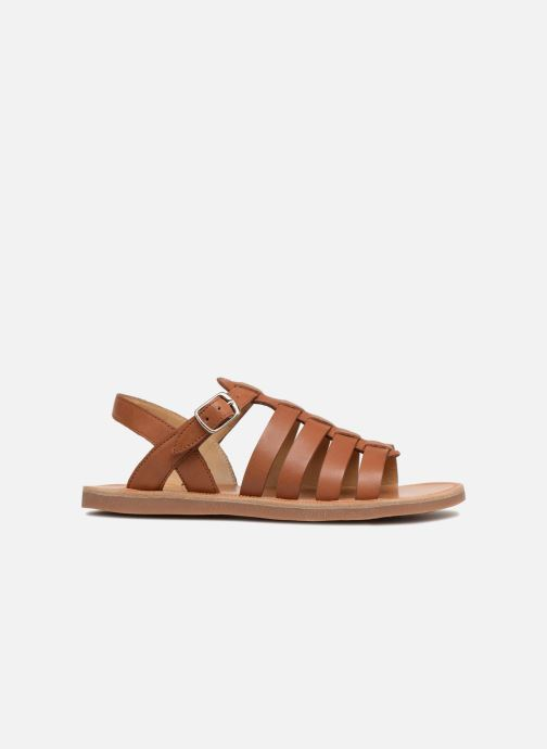Sandals Pom d Api Plagette Strap Brown back view