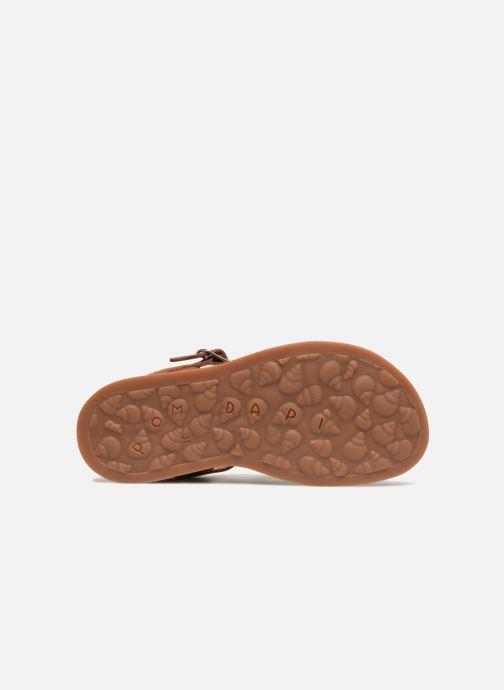 Sandales et nu-pieds Pom d Api Plagette Strap Marron vue haut