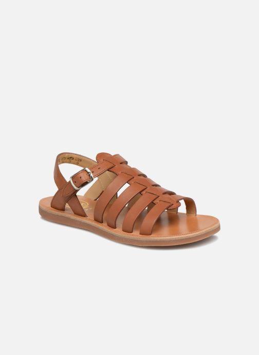 Sandales et nu-pieds Pom d Api Plagette Strap Marron vue détail/paire