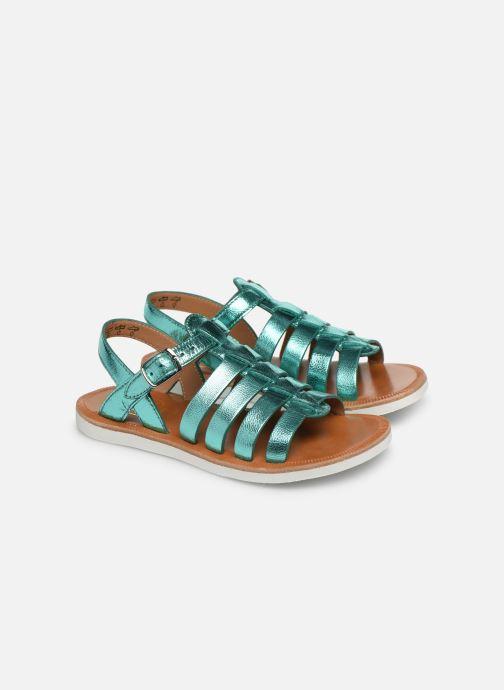 Sandales et nu-pieds Pom d Api Plagette Strap Argent vue 3/4