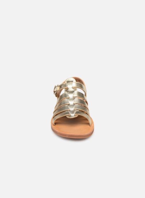 Sandalen Pom d Api Plagette Strap gold/bronze schuhe getragen