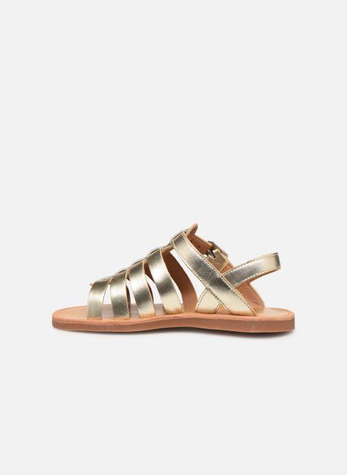 Sandales et nu-pieds Pom d Api Plagette Strap Or et bronze vue face