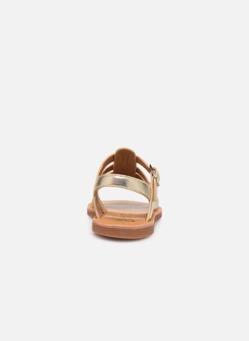 Sandales et nu-pieds Pom d Api Plagette Strap Or et bronze vue droite