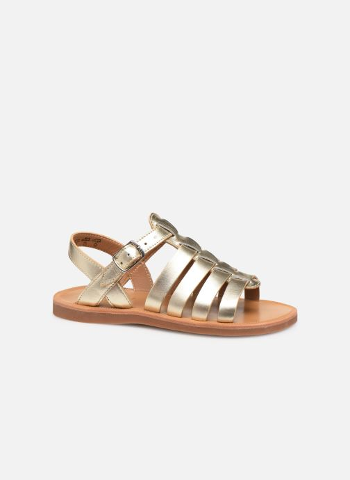 Sandales et nu-pieds Pom d Api Plagette Strap Or et bronze vue derrière