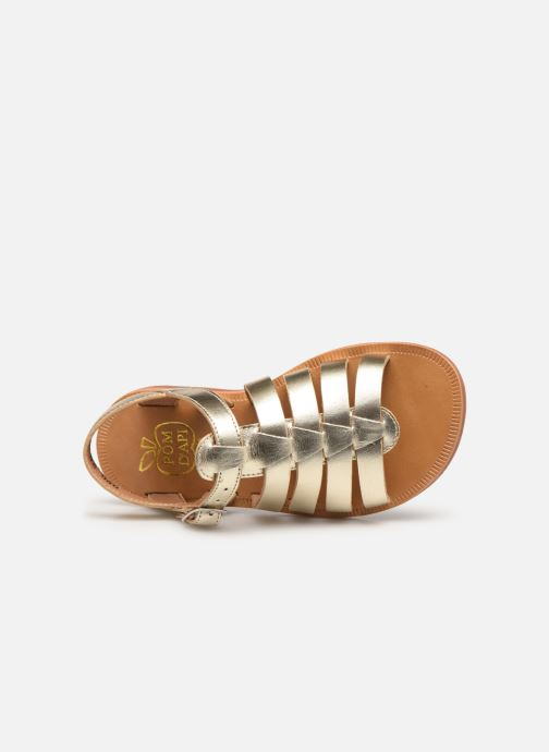 Sandalias Pom d Api Plagette Strap Oro y bronce vista lateral izquierda