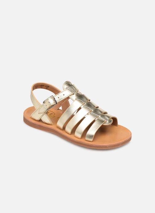 Sandalen Pom d Api Plagette Strap gold/bronze detaillierte ansicht/modell