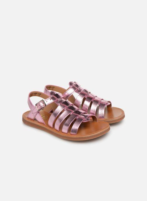 Sandales et nu-pieds Pom d Api Plagette Strap Rose vue 3/4