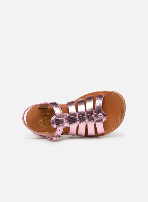 Sandales et nu-pieds Pom d Api Plagette Strap Rose vue gauche