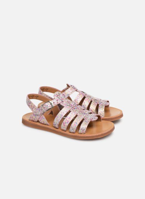 Sandales et nu-pieds Pom d Api Plagette Strap Multicolore vue 3/4