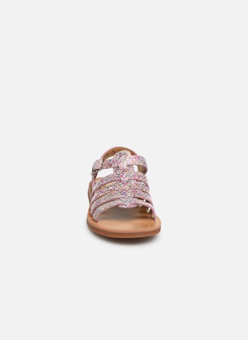 Sandales et nu-pieds Pom d Api Plagette Strap Multicolore vue portées chaussures