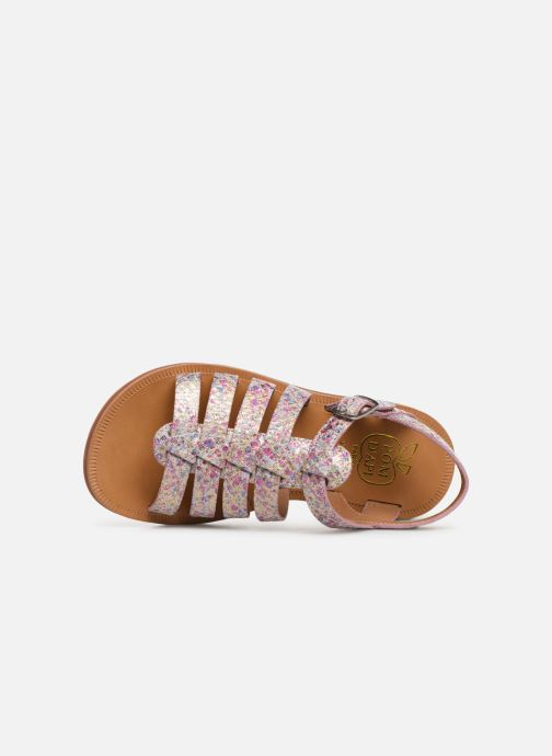 Sandales et nu-pieds Pom d Api Plagette Strap Multicolore vue gauche