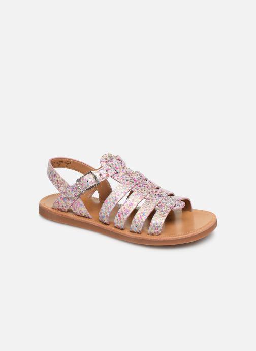 Sandales et nu-pieds Pom d Api Plagette Strap Multicolore vue détail/paire
