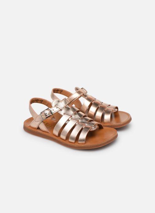 Sandales et nu-pieds Pom d Api Plagette Strap Or et bronze vue 3/4