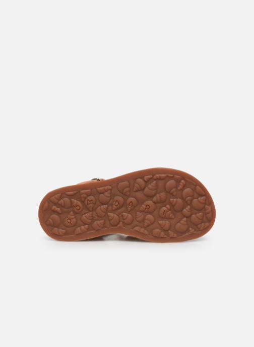 Sandales et nu-pieds Pom d Api Plagette Strap Or et bronze vue haut