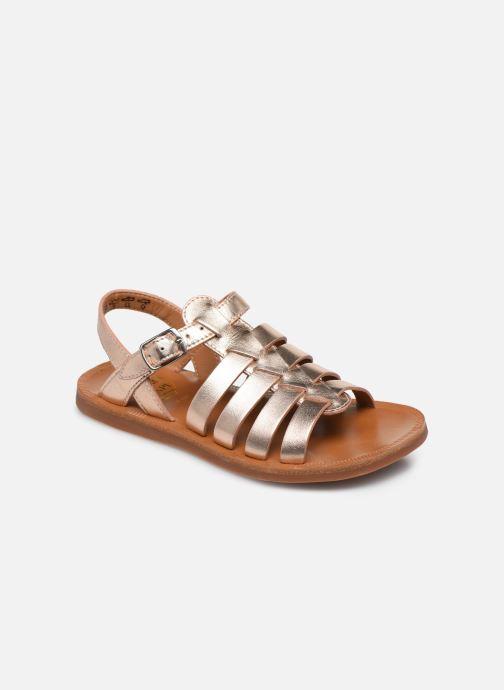 Sandales et nu-pieds Pom d Api Plagette Strap Or et bronze vue détail/paire