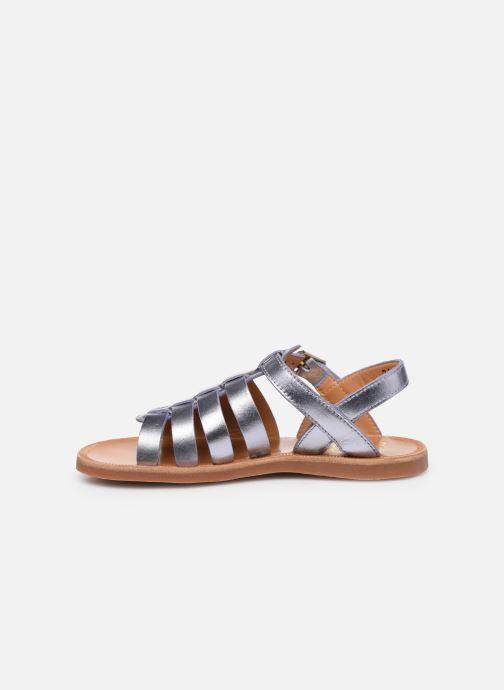 Sandales et nu-pieds Pom d Api Plagette Strap Argent vue face
