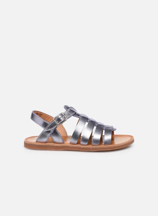 Sandali e scarpe aperte Pom d Api Plagette Strap Argento immagine posteriore