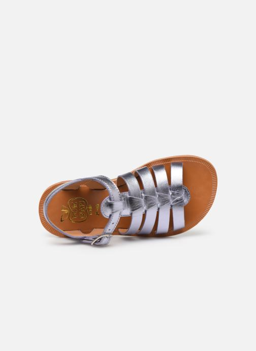Sandali e scarpe aperte Pom d Api Plagette Strap Argento immagine sinistra