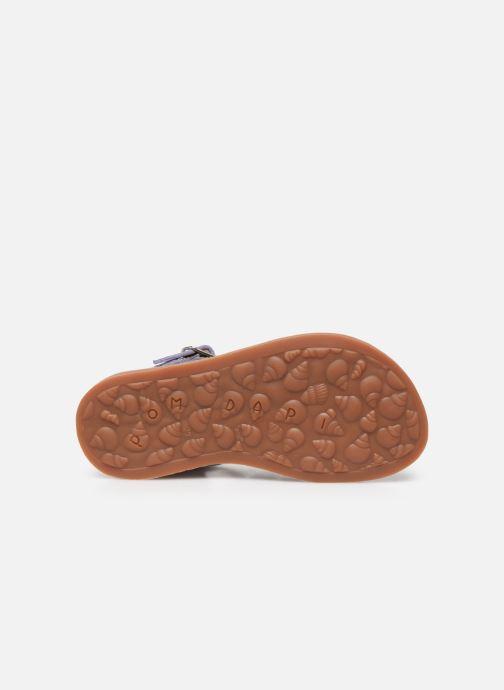 Sandalen Pom d Api Plagette Strap silber ansicht von oben