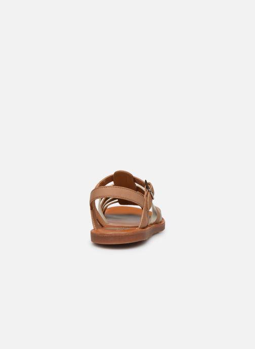 Sandales et nu-pieds Pom d Api Plagette Strap Marron vue droite