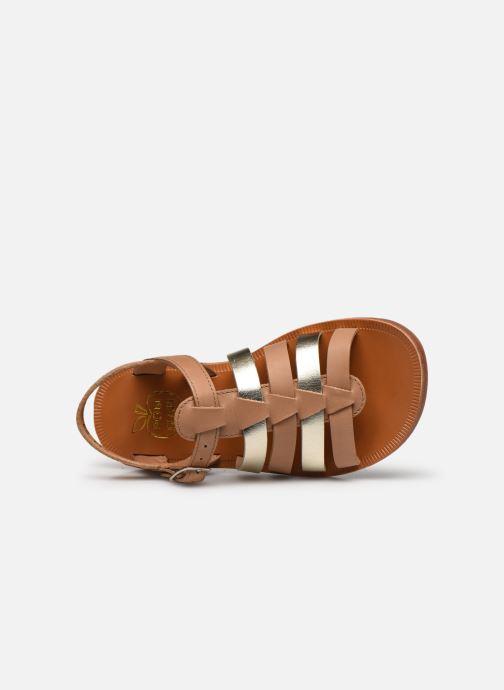 Sandales et nu-pieds Pom d Api Plagette Strap Marron vue gauche