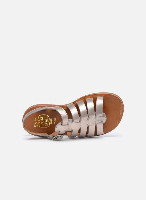 Sandali e scarpe aperte Pom d Api Plagette Strap Oro e bronzo immagine sinistra