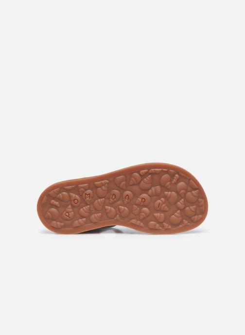 Sandali e scarpe aperte Pom d Api Plagette Strap Oro e bronzo immagine dall'alto
