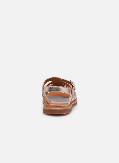 Sandales et nu-pieds Pom d Api Plagette Strap Argent vue droite