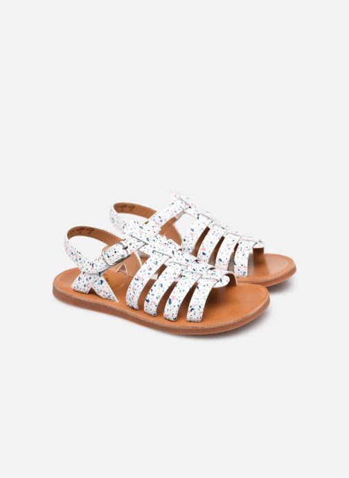 Sandali e scarpe aperte Pom d Api Plagette Strap Bianco immagine 3/4