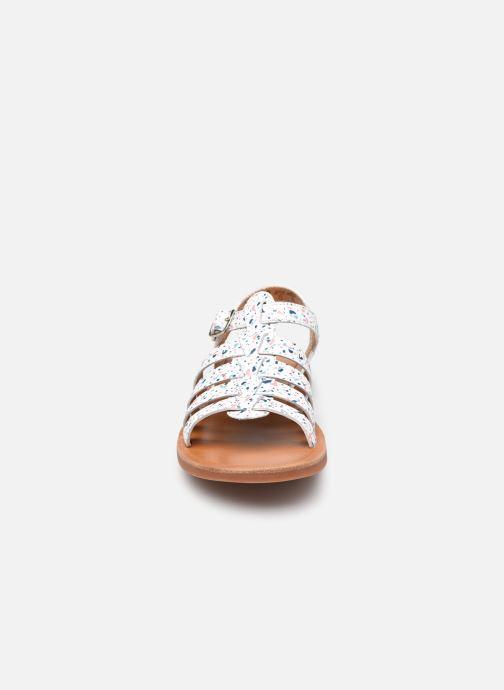 Sandali e scarpe aperte Pom d Api Plagette Strap Bianco modello indossato