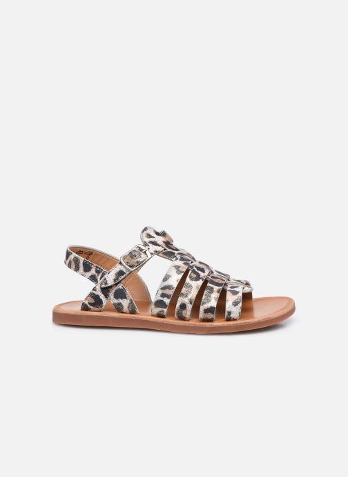 Sandali e scarpe aperte Pom d Api Plagette Strap Bianco immagine posteriore