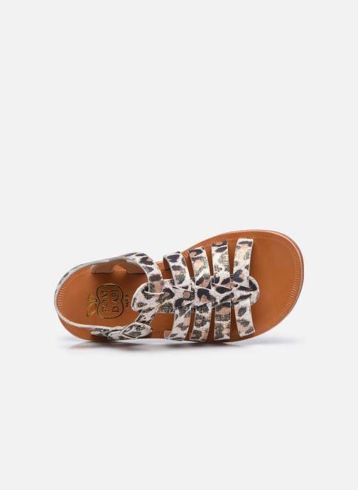 Sandali e scarpe aperte Pom d Api Plagette Strap Bianco immagine sinistra