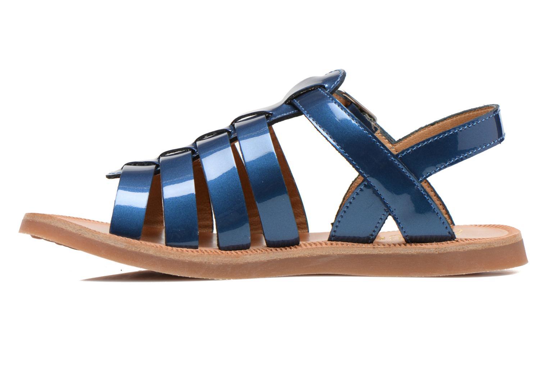 Sandals Pom d Api Plagette Strap Blue front view