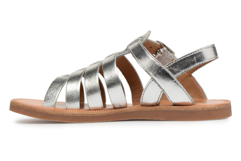 Sandals Pom d Api Plagette Strap Silver front view