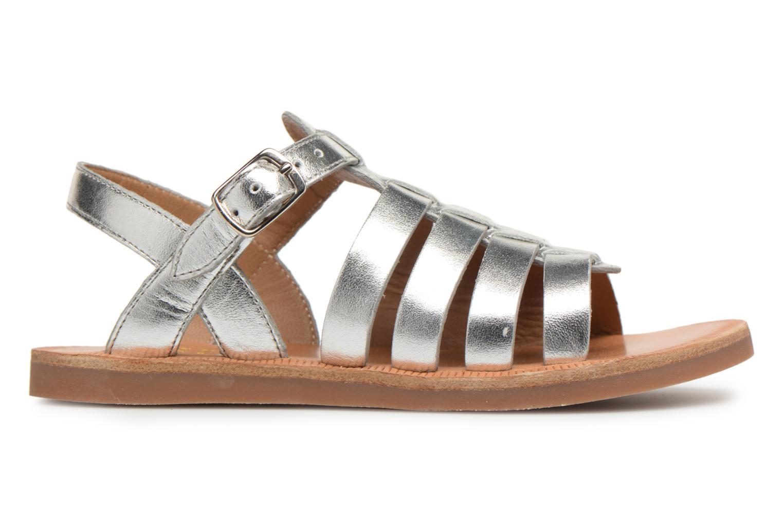 Sandals Pom d Api Plagette Strap Silver back view