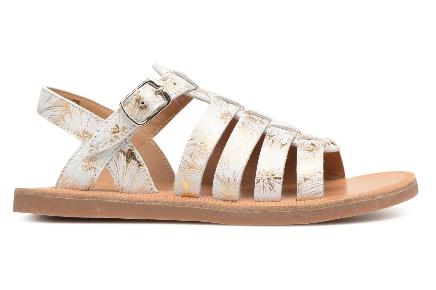 Sandals Pom d Api Plagette Strap White back view
