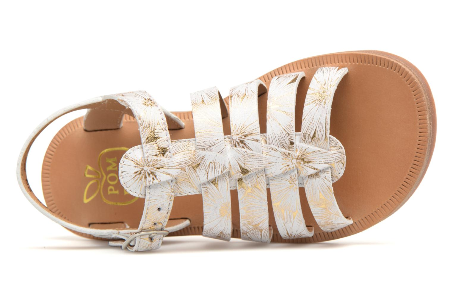 Sandals Pom d Api Plagette Strap White view from the left