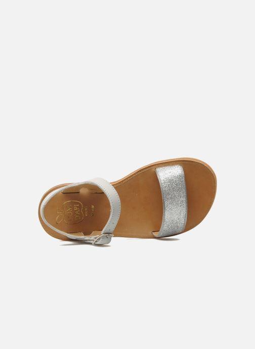 Sandales et nu-pieds Pom d Api Plagette Buckle Tao Argent vue gauche
