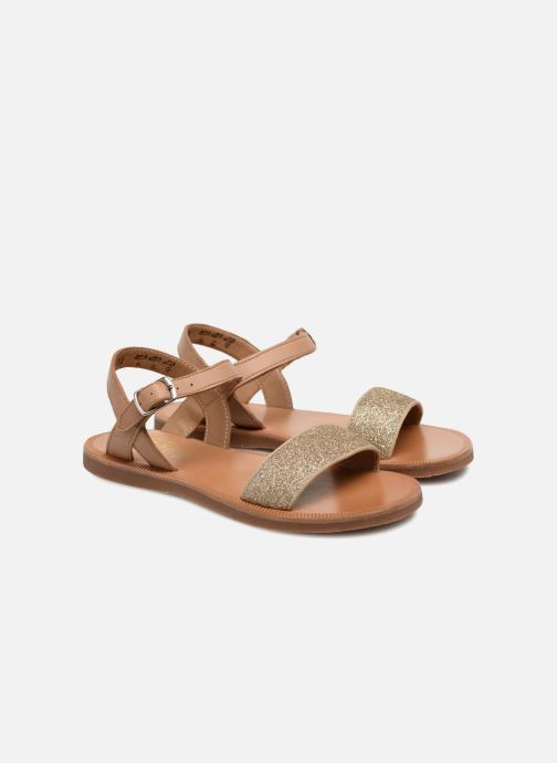 Sandales et nu-pieds Pom d Api Plagette Buckle Tao Marron vue 3/4