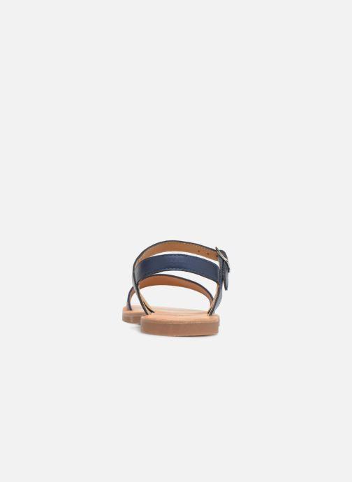 Sandales et nu-pieds Pom d Api Plagette Buckle Tao Bleu vue droite