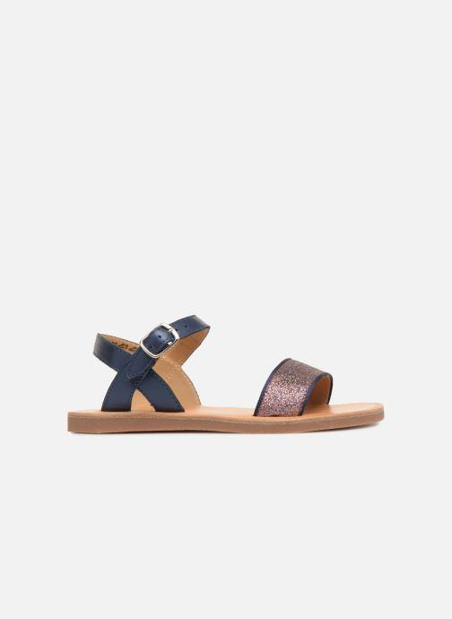 Sandales et nu-pieds Pom d Api Plagette Buckle Tao Bleu vue derrière