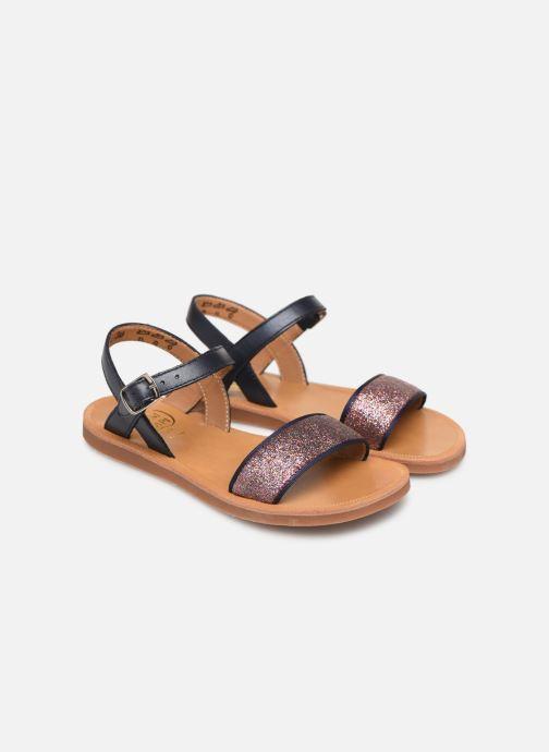 Sandals Pom d Api Plagette Buckle Tao Blue 3/4 view