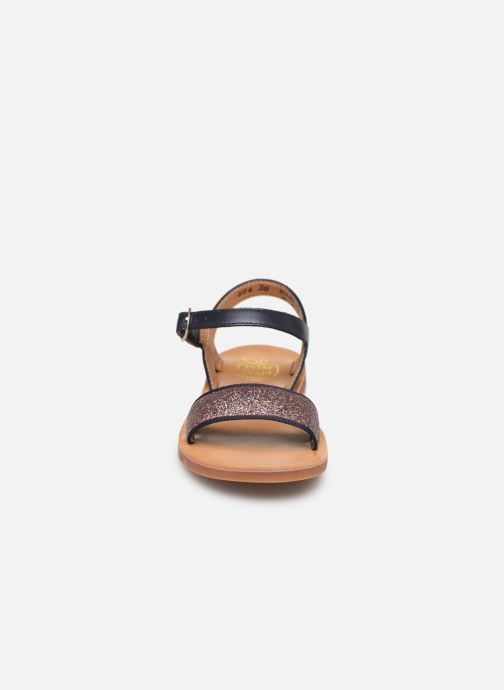 Sandales et nu-pieds Pom d Api Plagette Buckle Tao Bleu vue portées chaussures