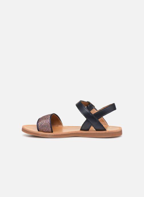 Sandales et nu-pieds Pom d Api Plagette Buckle Tao Bleu vue face