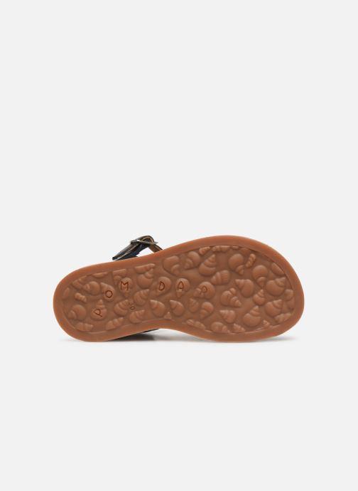 Sandales et nu-pieds Pom d Api Plagette Buckle Tao Bleu vue haut