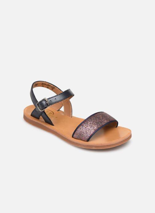Sandales et nu-pieds Pom d Api Plagette Buckle Tao Bleu vue détail/paire