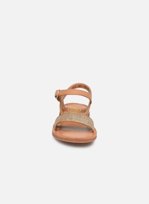 Sandals Pom d Api Plagette Buckle Tao Brown model view
