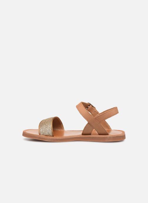 Sandales et nu-pieds Pom d Api Plagette Buckle Tao Marron vue face